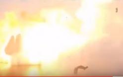 Video: Tên lửa Falcon 9 nổ tung khi hạ cánh trên Thái Bình Dương