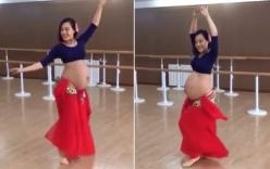 Gái xinh mang bầu 9 tháng múa bụng cực quyến rũ