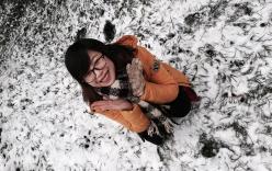 Cận cảnh tuyết rơi tại Sa Pa
