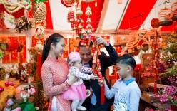 Kim Hiền hạnh phúc đón năm mới cùng chồng con ở bên Mỹ