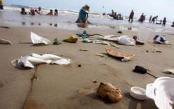 Ngán ngẩm với cảnh bãi biển Vũng Tàu ngập trong rác ngày tết