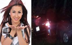 Xe chở ca sĩ Vĩnh Thuyên Kim gặp tai nạn nghiêm trọng