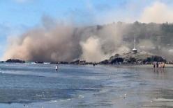 Vách đá đổ sụp sau trận động đất 5,8 độ richter tại New Zealand
