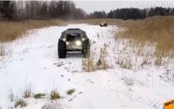 Video: Xe tăng tí hon của Nga thách thức mọi địa hình
