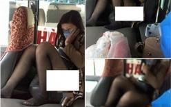 Cô gái ngồi phản cảm lộ hàng trên xe khách gây xôn xao
