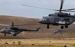 Xem dàn trực thăng vũ trang siêu hiện đại của Nga xuất kích tập trận