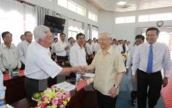 Tổng Bí thư Nguyễn Phú Trọng đến thăm và làm việc tại tỉnh Long An