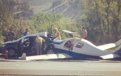 Video: Máy bay lao xuống đường cao tốc, 1 người thiệt mạng