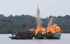 Hơn 10 tàu cá Việt Nam bị Indonesia đánh chìm