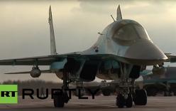 Xem tiêm kích Su-34 phá sông băng, khơi thông dòng chảy