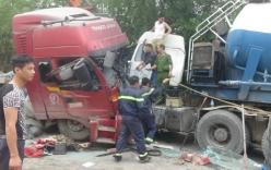 Dùng cưa cắt cabin giải cứu tài xế bị mắc kẹt sau tai nạn