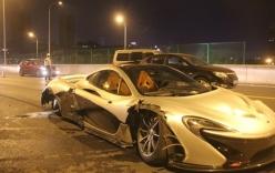 Siêu xe P1 McLaren 45 tỉ nát tươm sau vụ tai nạn trên đường cao tốc