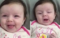 Em bé 10 tuần tuổi nói