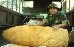 Đào ao, phát hiện quả bom 500 kg