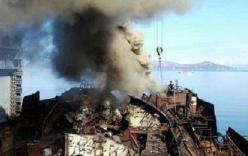 Tàu ngầm hạt nhân Nga bất ngờ bốc cháy