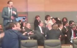 Video: Nghị sĩ Thổ Nhĩ Kỳ đấm nhau, ném chai lọ ngay giữa nghị trường