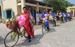 Đám cưới độc đáo rước dâu bằng xe đạp ở Tây Ninh hút dân mạng