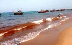 Vệt nước biển màu đỏ ở Quảng Bình không phải là thủy triều đỏ