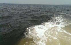 Xuất hiện vệt nước đen sẫm gần biển Vũng Áng