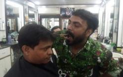 Cận cảnh người thợ cắt tóc điêu luyện bằng miệng