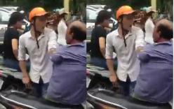 Thanh niên túm cổ, dọa đánh xe ôm bị CSGT và người dân khống chế