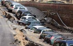 Hố tử thần dài 200m nuốt chửng hàng chục ô tô