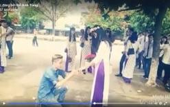 9X cầu hôn nữ sinh tại lễ tốt nghiệp cấp 3 gây tranh cãi
