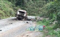 Nổ xe khách ở biên giới Việt - Lào, 8 người Việt tử vong