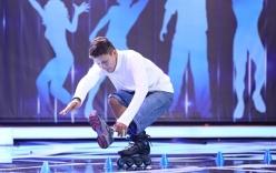 Chàng trai trượt patin 1 chân gây xúc động sân khấu