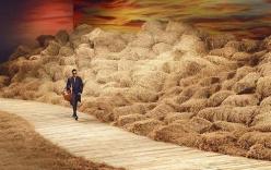 Sàn catwalk từ 40 tấn rơm giá một tỷ của NTK Đỗ Mạnh Cường