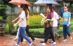 Thời tiết mát mẻ, nhiều nơi có mưa dông trong ngày thi THPT đầu tiên