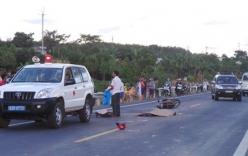 Xe tải đâm xe máy, một người tử vong