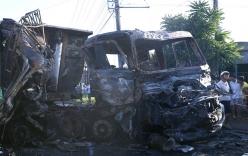 Tai nạn giao thông ở Bình Dương, cháu bé 3 tuổi chết cháy