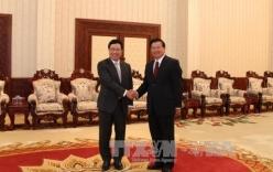 Lãnh đạo Lào tiếp đón Thủ tướng Phạm Bình Minh nhân Hội nghị AMM-49