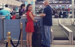 Thu Minh tiễn chồng đi công tác giữa tâm bão dư luận bị đòi nợ
