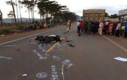 Bánh xe tải phát nổ khiến 2 người thương vong