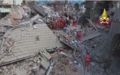 Video: Thị trấn bị san phẳng sau động đất ở Italy, 159 người thiệt mạng