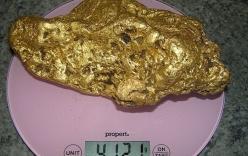 Người đàn ông đào được cục vàng 4kg, tưởng móng ngựa cũ