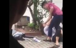 Xôn xao clip chồng đánh vợ sau khi cãi nhau