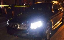 CSGT truy đuổi xe Mercedes bỏ chạy sau khi gây tai nạn trên phố Hà Nội