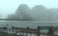 Video: Bão Megi tạo cột sóng cao hơn 10 m ập vào Đài Loan
