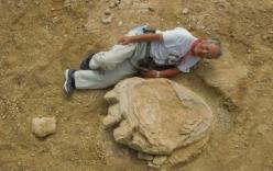 Dấu chân khủng long khổng lồ tại Mông Cổ