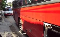 CSGT rút súng ngăn hai tài xế xe khách hỗn chiến