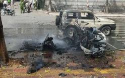 Nhân chứng kế lại giây phút xe taxi nổ như bom, 2 người chết thảm