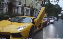 Dàn siêu xe tiền tỷ cùng Cường Đô la gây náo loạn đường phố