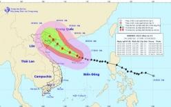 Cơn bão số 7- bão Sarika giật cấp 16 đang di chuyển về đất liền Việt Nam