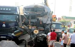 Hai xe tải tông nhau, thi thể tài xế kẹt trong cabin