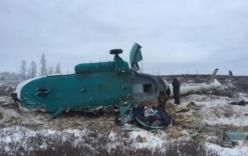 Video: Trực thăng Nga rơi, 19 người thiệt mạng