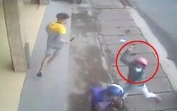 Video: Nhóm côn đồ bịt mặt chém người dã man giữa phố