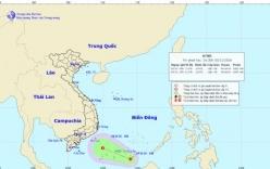 Áp thấp nhiệt đới giật cấp 8 trên Biển Đông